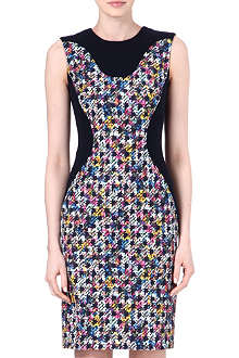 ERDEM Jena checked contour dress