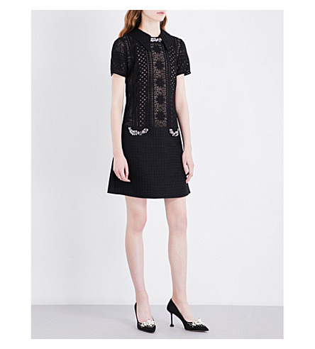 ERDEM Paula lace dress (Black