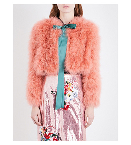 ERDEM Ives feather jacket (Pink