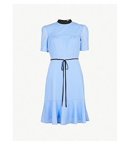 ERDEM Anne cotton-voile dress (Blue