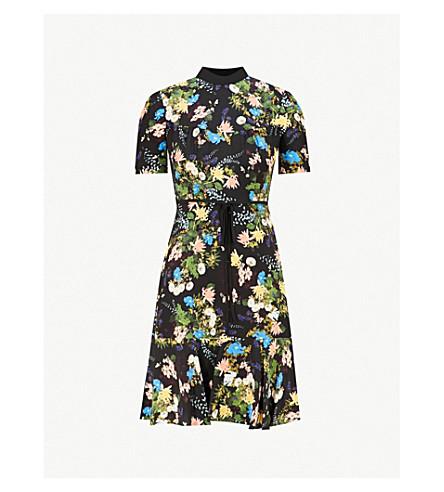 ERDEM Anne silk mini dress (Black multi