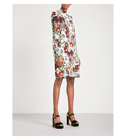 ERDEM Mirela silk-crepe de chine dress (White+/+multi