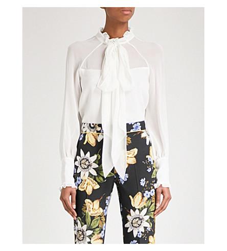 ERDEM Isabelle silk-chiffon blouse (Ivory