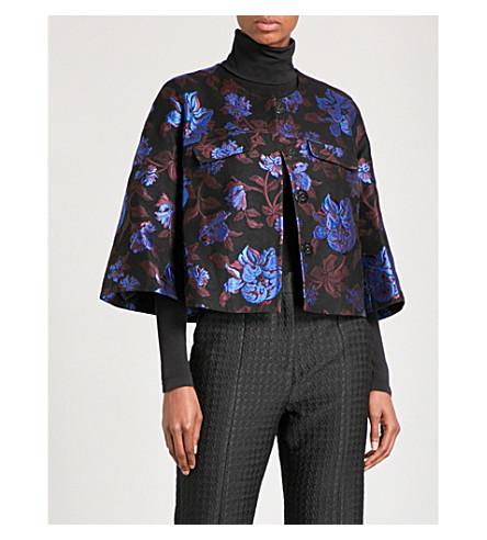 ERDEM Skylar floral-jacquard jacket (Black+/+multi