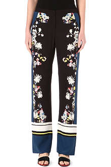 ERDEM Taffy printed silk trousers