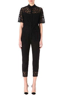 ERDEM Short-sleeved lace jumpsuit