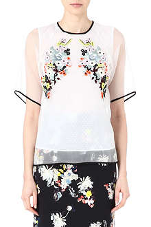 ERDEM Voni embroidered top