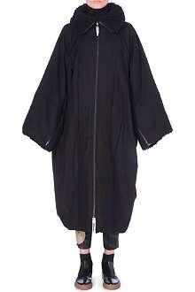 YOHJI YAMAMOTO Oversized shearling collar coat