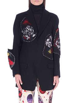 YOHJI YAMAMOTO Patch-detail wool jacket