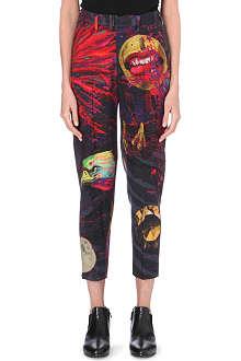YOHJI YAMAMOTO Graphic-printed slim trousers