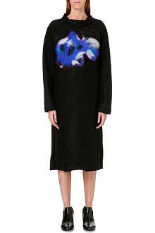 YOHJI YAMAMOTO Patchwork-detail wool-blend dress