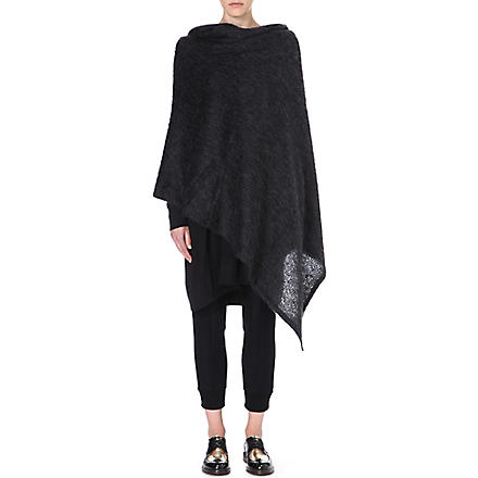 YOHJI YAMAMOTO Hooded wrap (Black