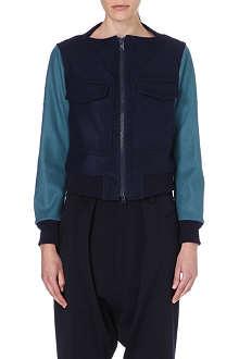 YOHJI YAMAMOTO Colourblocked wool-blend jacket