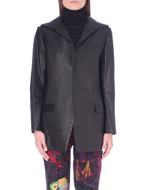 YOHJI YAMAMOTO Leather blazer jacket