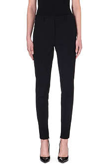 VICTORIA BECKHAM Tapered mid-rise wool trousers