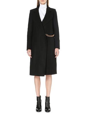 VICTORIA BECKHAM Chain-detail stretch-wool wrap coat