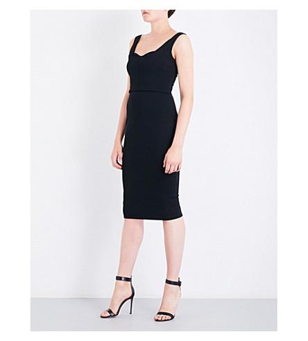 VICTORIA BECKHAM Sweetheart stretch-jersey dress (Black