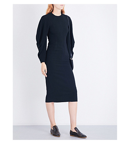 VICTORIA BECKHAM Raglan crepe dress (Black