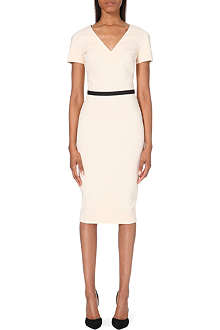 VICTORIA BECKHAM Icon cap-sleeve dress