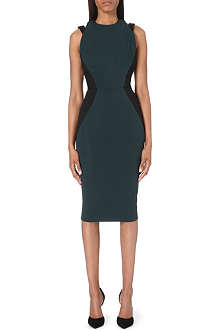 VICTORIA BECKHAM Icon banded-back stretch-crepe dress