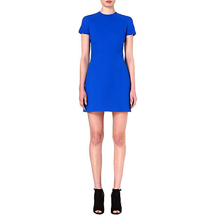 VICTORIA BECKHAM Panelled wool and silk-blend dress (Bluette