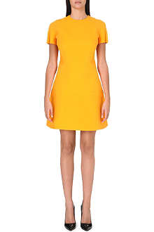 VICTORIA BECKHAM Panelled wool and silk-blend dress