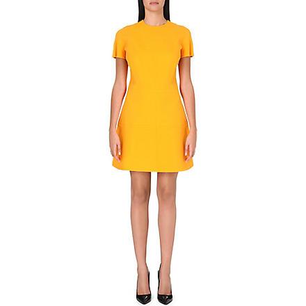 VICTORIA BECKHAM Panelled wool and silk-blend dress (Orange