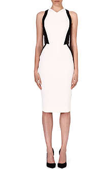 VICTORIA BECKHAM Contrast mesh-panel dress
