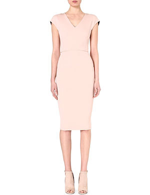 VICTORIA BECKHAM V-neck stretch-crepe dress