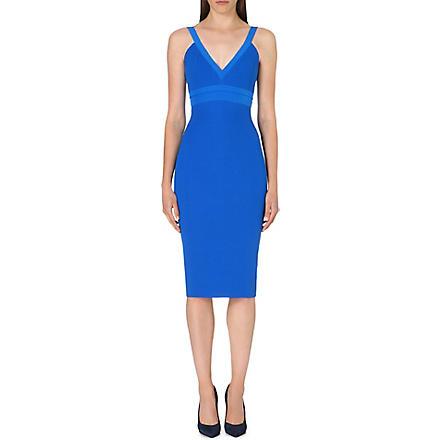 VICTORIA BECKHAM Cami silk-blend dress (Bluette