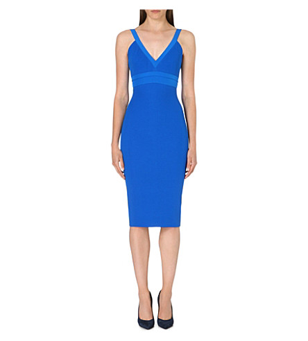 VICTORIA BECKHAM Cami silk-blend dress (Bluette