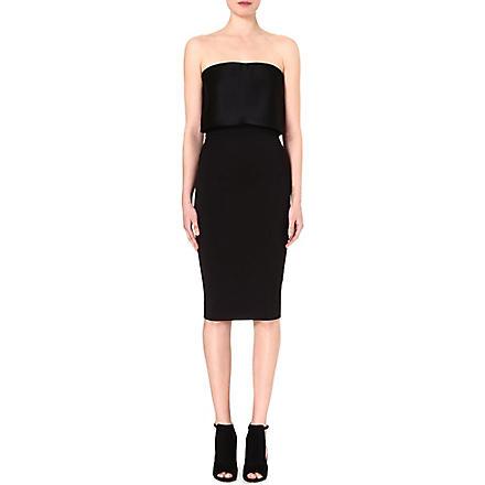 VICTORIA BECKHAM Bustier column dress (Black