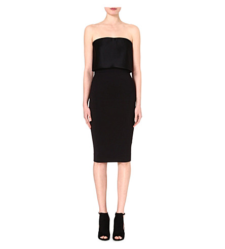 VICTORIA BECKHAM Bustier column dress (Black