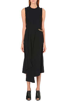 VICTORIA BECKHAM Chain-detail draped dress