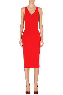 VICTORIA BECKHAM Stretch-crepe sleeveless dress