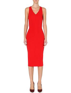VICTORIA BECKHAM Stretch-crepe sleeveless dress