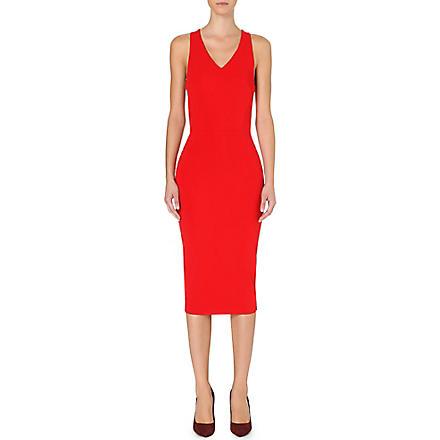 VICTORIA BECKHAM Stretch-crepe sleeveless dress (Red