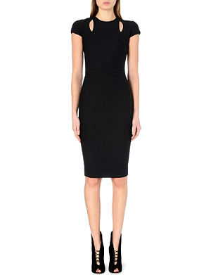 VICTORIA BECKHAM Fitted cut-out stretch-crepe dress