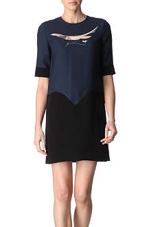 VICTORIA VICTORIA BECKHAM Bird-print dress