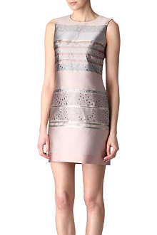 VICTORIA VICTORIA BECKHAM Sleeveless stripe jacquard dress