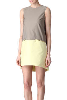 VICTORIA VICTORIA BECKHAM Bi-colour zip dress