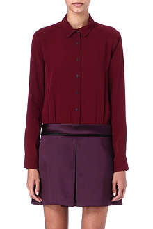 VICTORIA VICTORIA BECKHAM Crepe and satin shirt dress