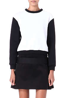 VICTORIA VICTORIA BECKHAM Neoprene and satin jumper dress