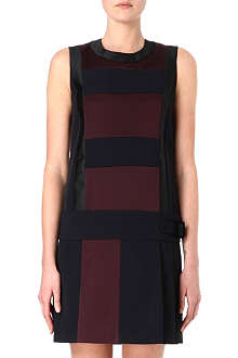 VICTORIA VICTORIA BECKHAM Sleeveless stripe pleat dress