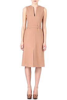 VICTORIA VICTORIA BECKHAM V-shaped split wool-blend dress