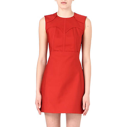 VICTORIA VICTORIA BECKHAM Panel detail dress (Crimson