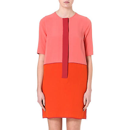 VICTORIA VICTORIA BECKHAM Colourblock tunic dress (Pink/raspberry
