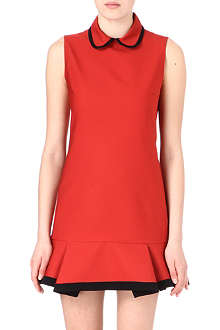 VICTORIA VICTORIA BECKHAM Peter Pan collar cotton-blend dress