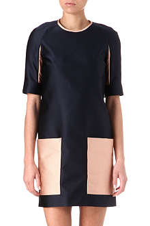 VICTORIA VICTORIA BECKHAM Contrast-patch pocket dress