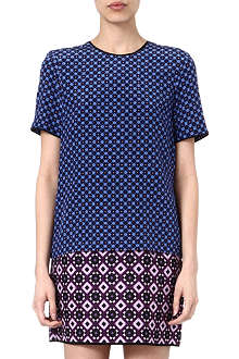 VICTORIA VICTORIA BECKHAM Patterned silk dress